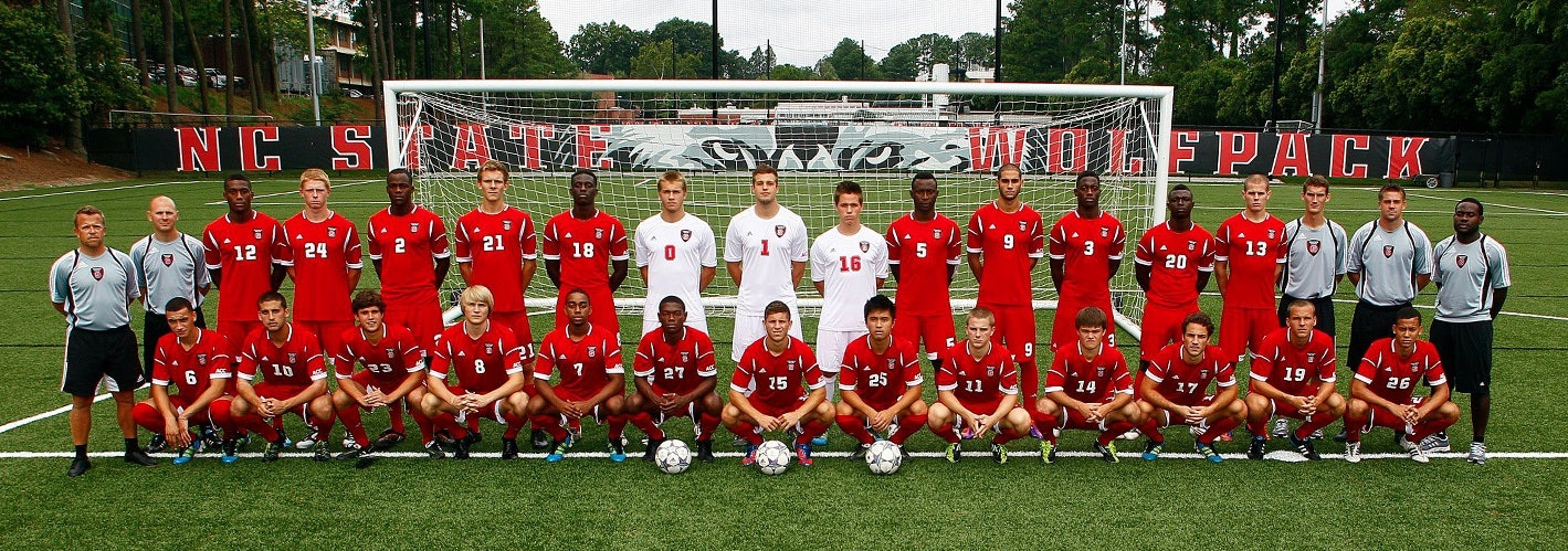mens soccer team at NC State