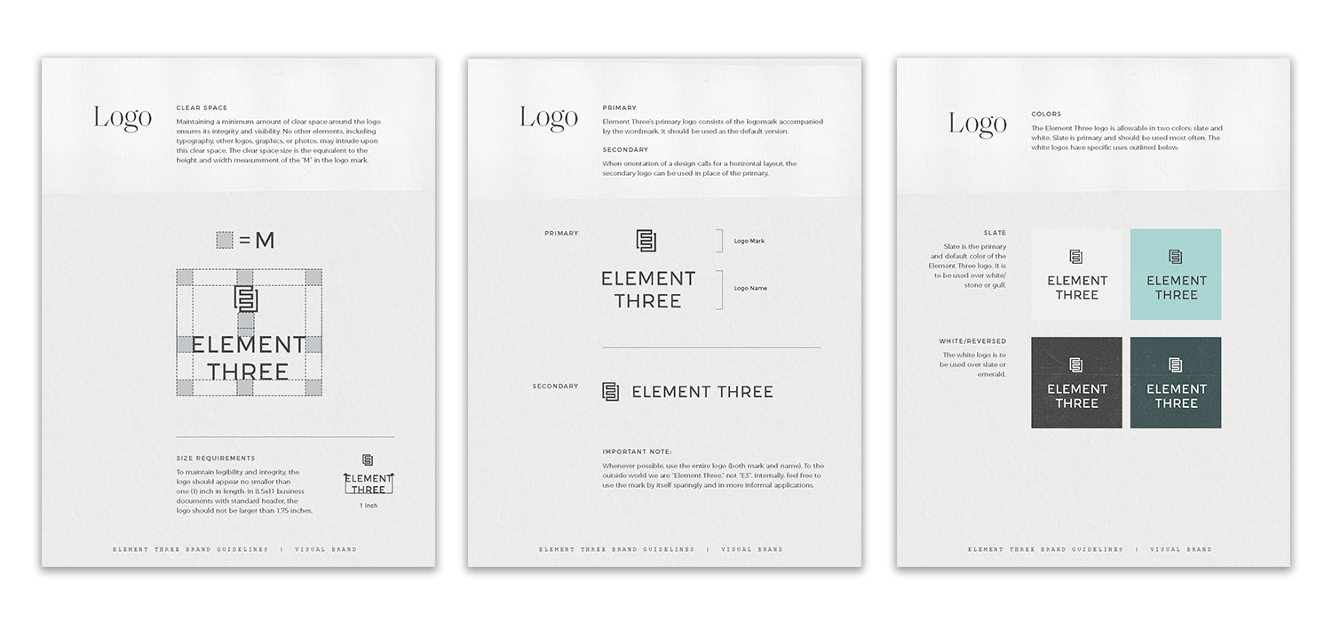 Element Three Logo Lockup Brand Guidelines