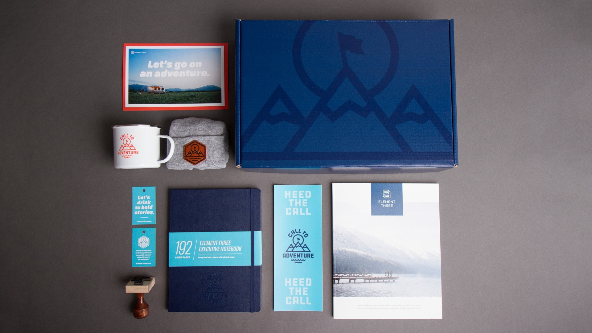 outdoor industry direct mail kit with components