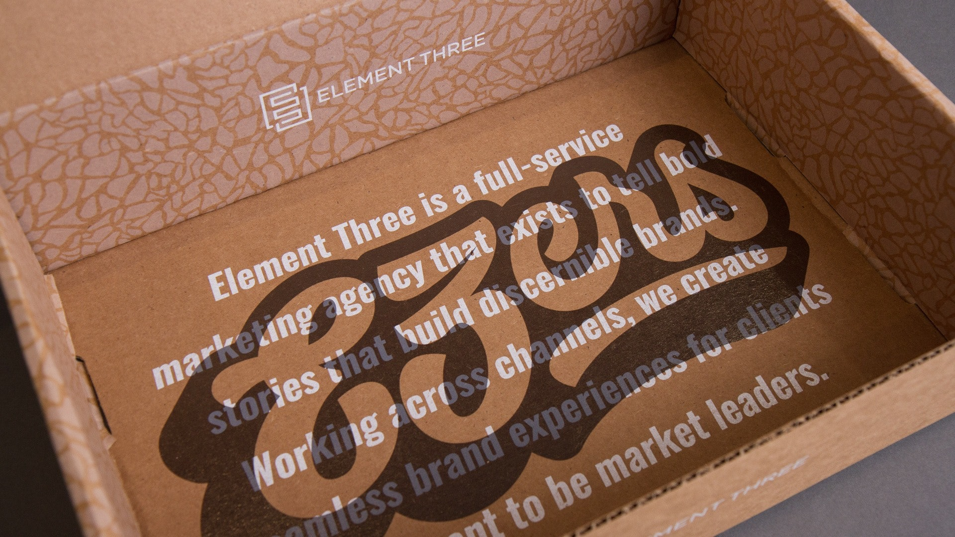 Element Three Onboarding Kit Detail