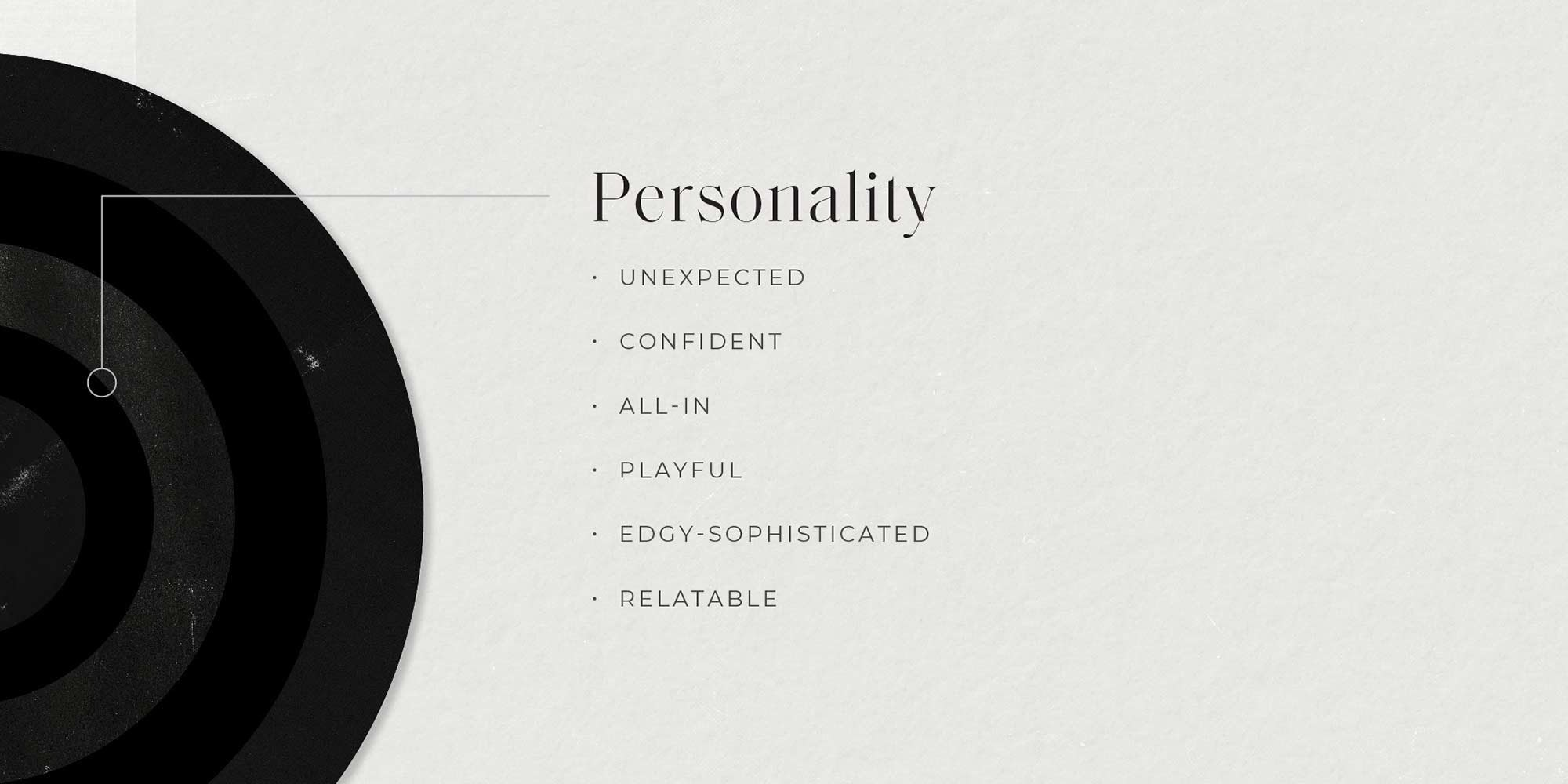 The personality section of the brand wheel