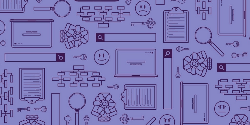 seo icons on a purple background