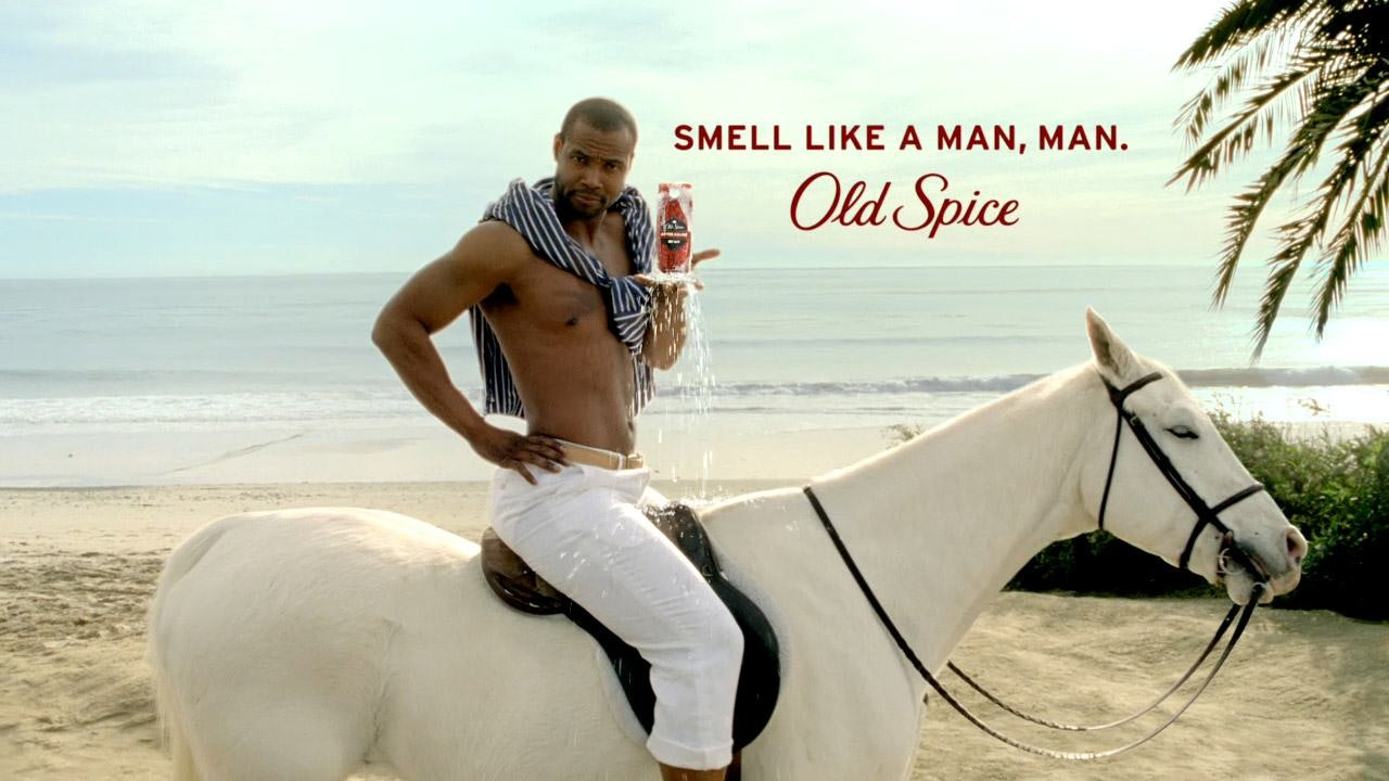 Old spice man on