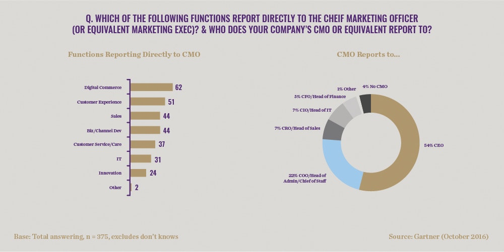 Functions Reporting Directly to the CMO