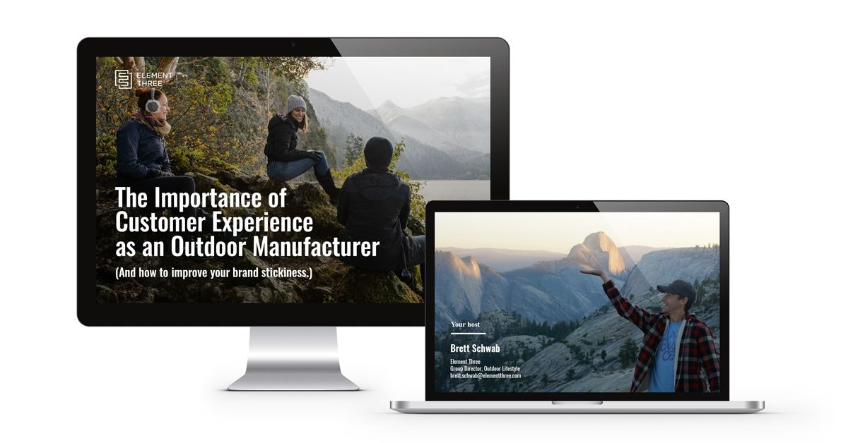Webinar for Outdoor Industry on Desktop