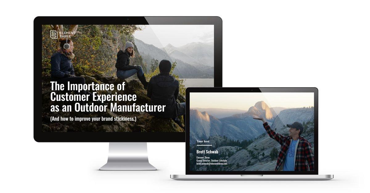 Webinar for Outdoor Industry on Desktop