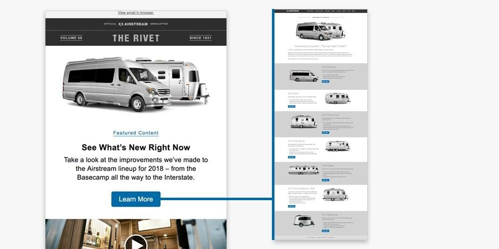 airstream email newsletter template