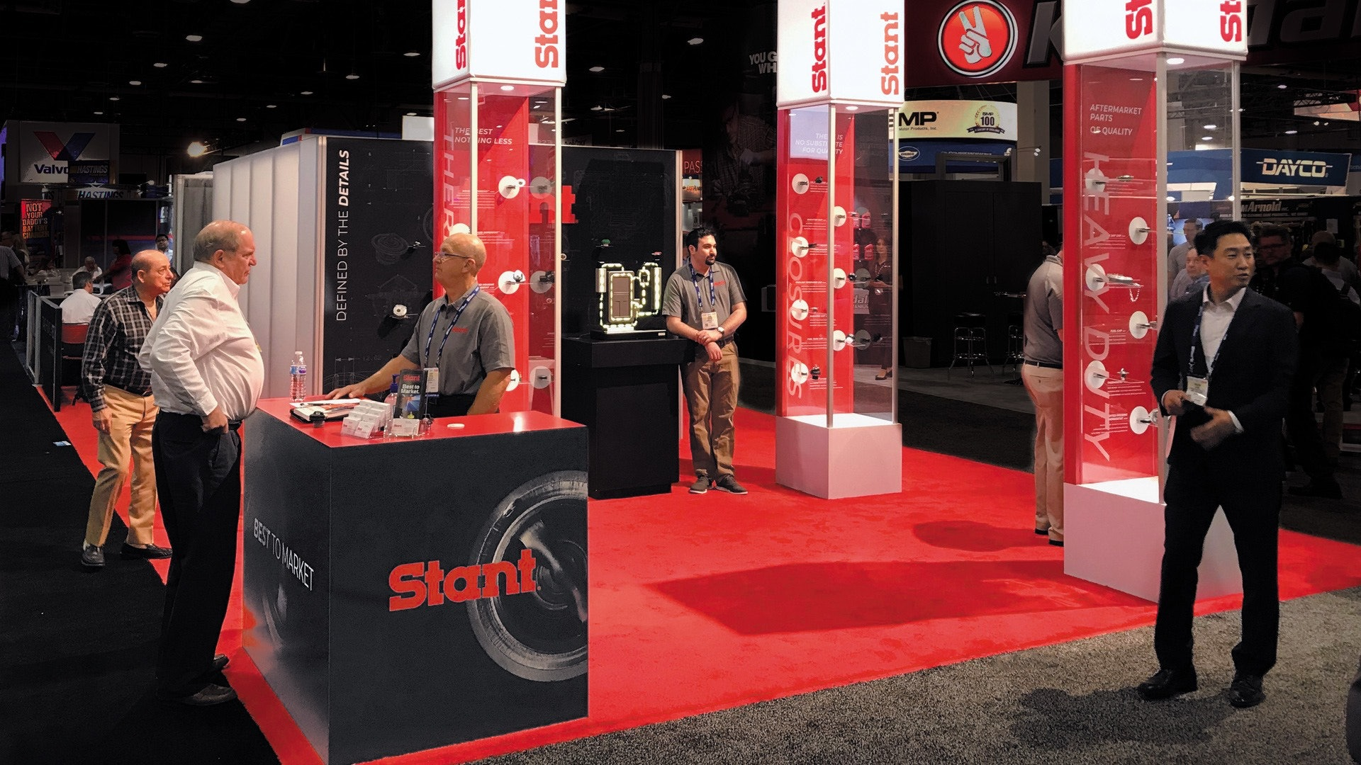 Automotive Trade Show Booth in Red