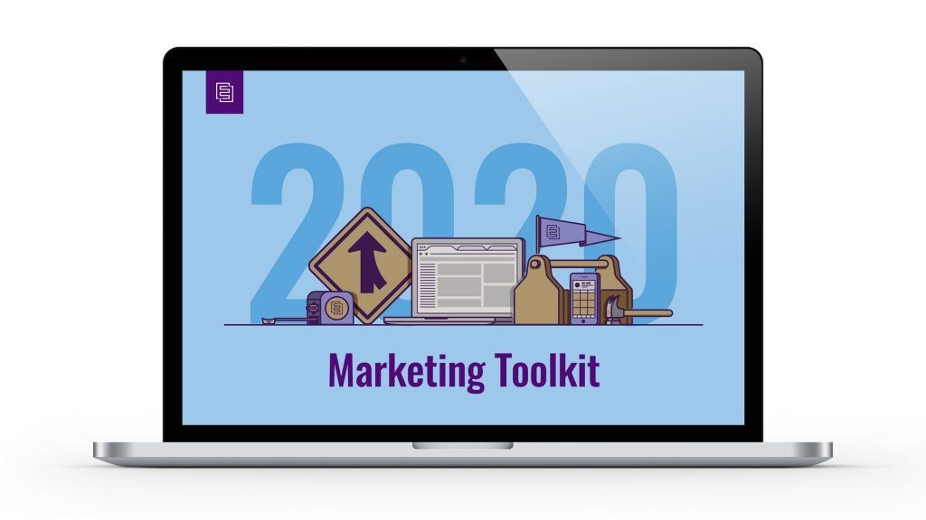 2020 Marketing Toolkit on Laptop