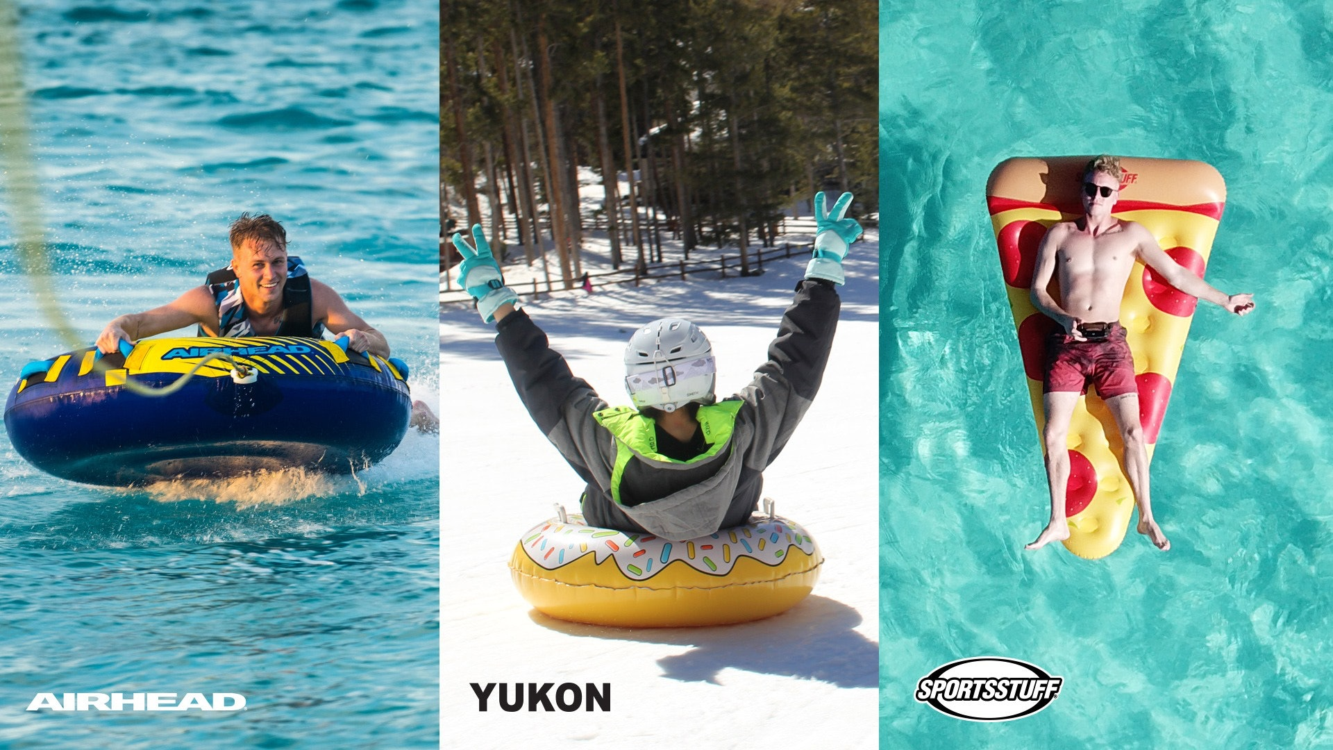 Airhead Yukon and Sportsstuff Brands