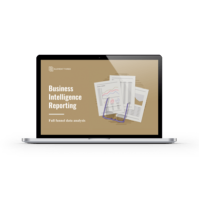 Business Intelligence Reporting on Laptop