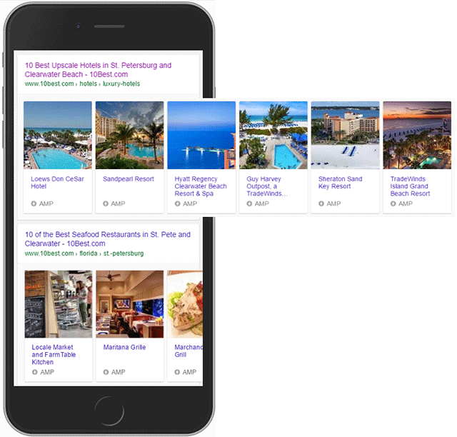 hotel mobile carousel search result