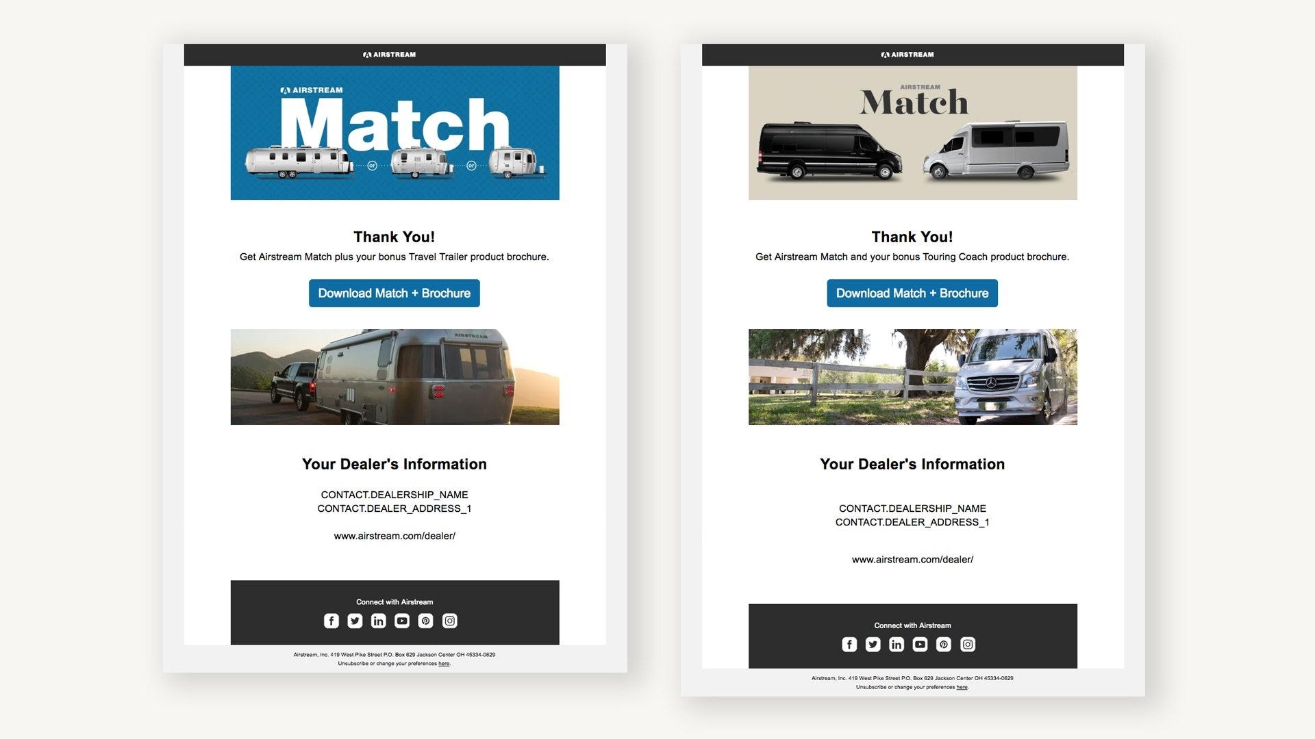 Airstream Lead Nurturing Email Examples