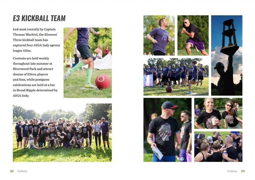 E3 Kickball Team in Employee Handbook