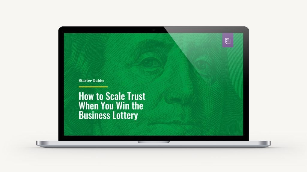 How to Scale Trust Guide on Laptop