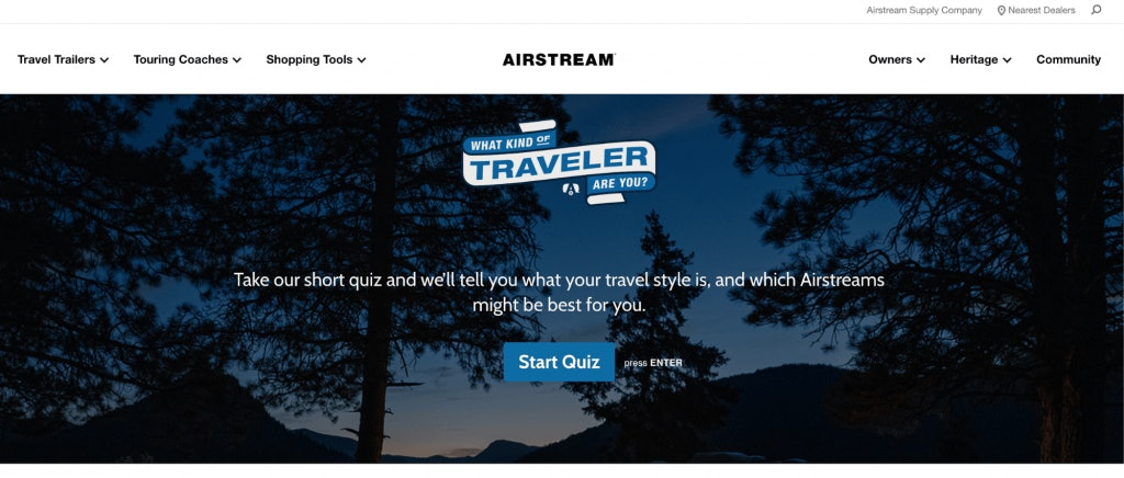 Airstream Traveler Quiz