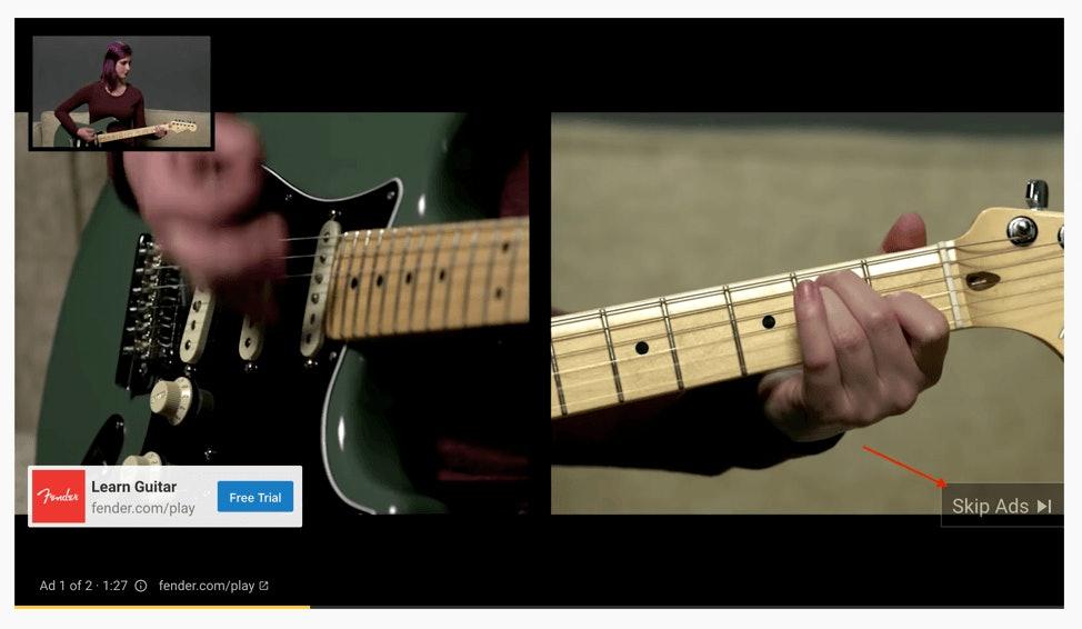 Guitar YouTube Ad
