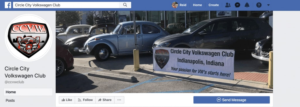 Circle City Volkswagen Club Facebook Page