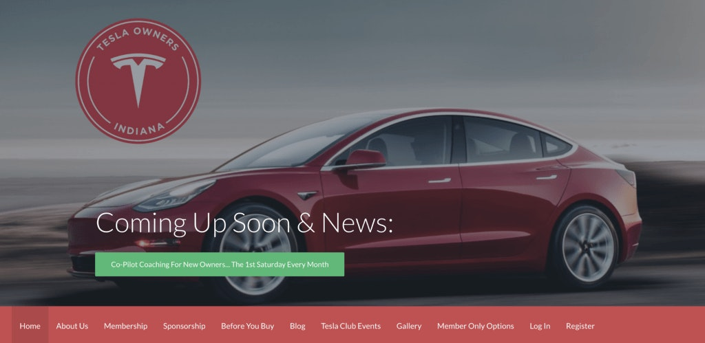 Tesla Owners Indiana Page