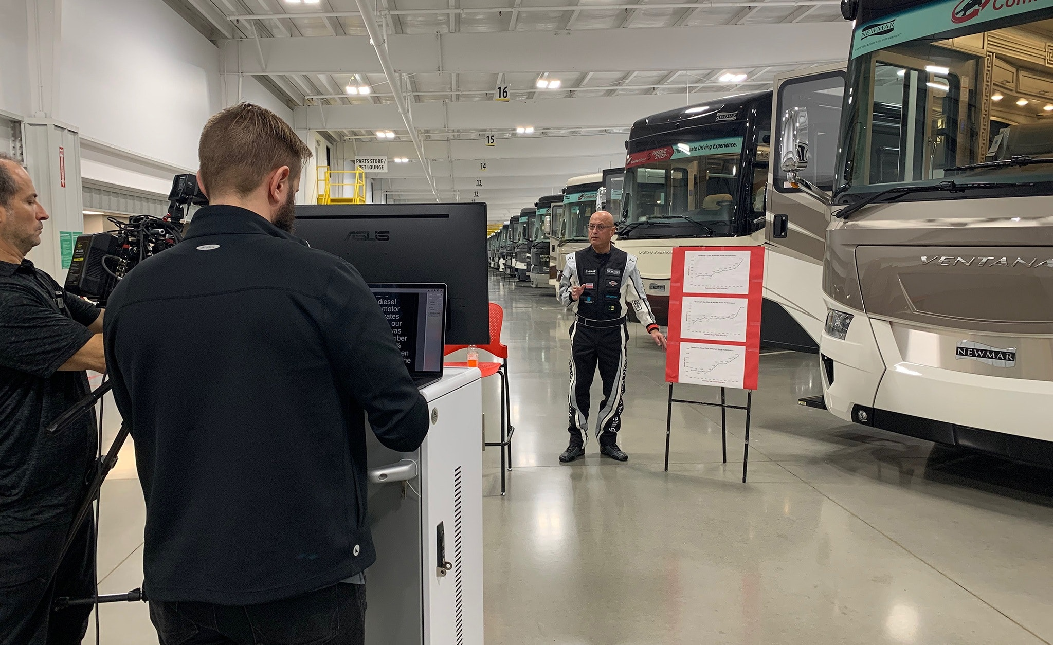 Behind the Scenes Picture of Newmar Dealer Show 2020