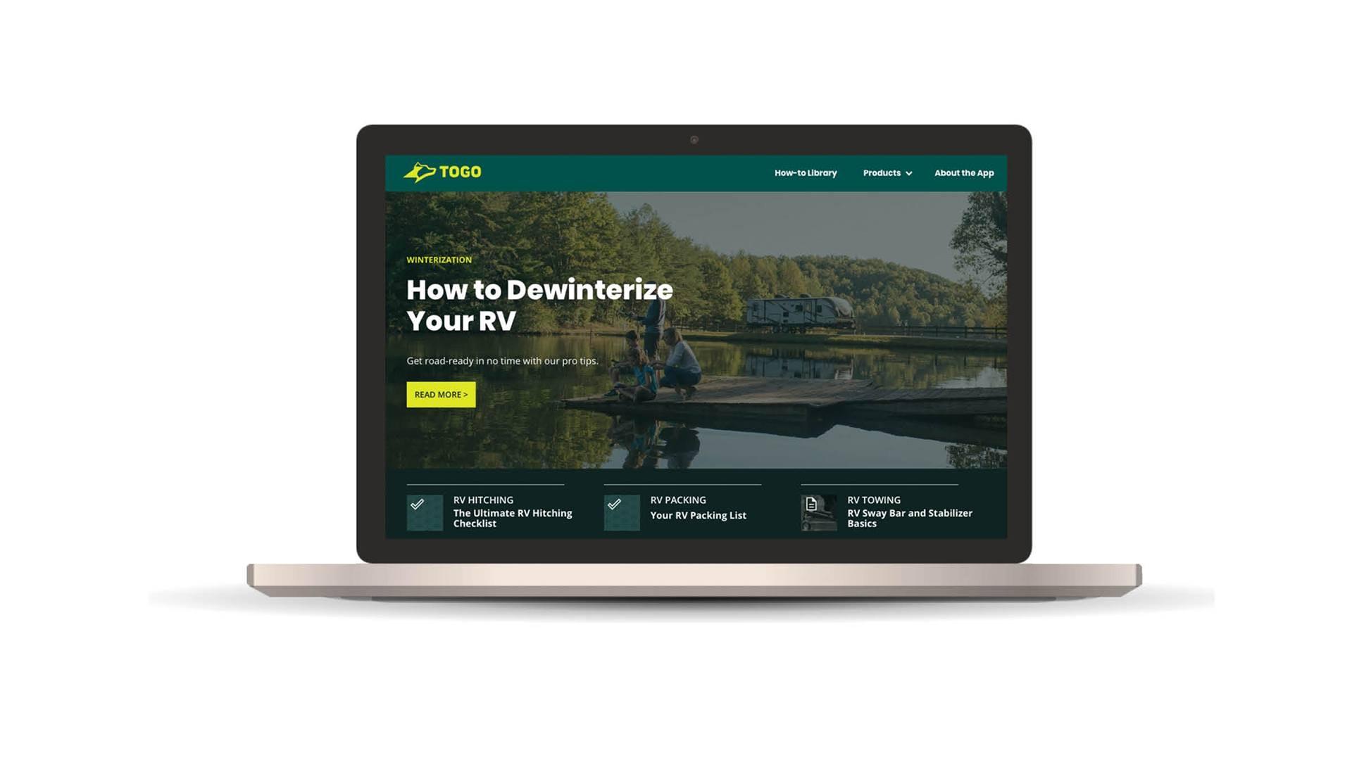 Togo Website on Laptop