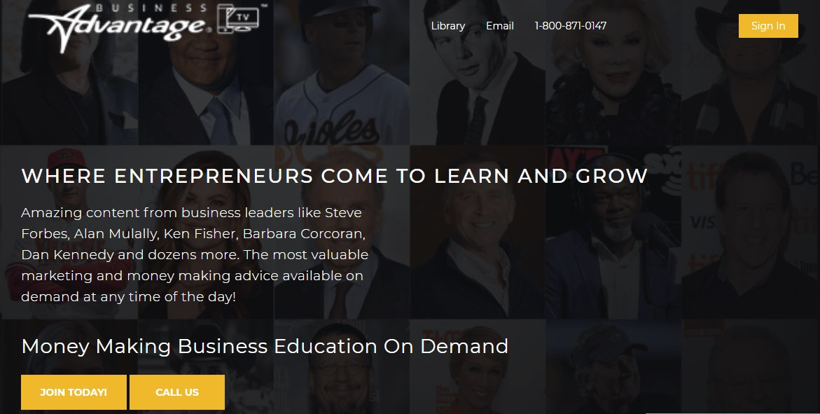 BusinessAdvantage TV Homepage